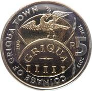 5 Rand (Bicentenaire de la monnaie de Griqua town) – revers