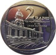 2 Rand (Centenaire des Bâtiments de l'Union) -  revers