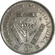 3 pence - George VI -  revers