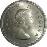 2½ shillings - Elizabeth II (1ere effigie) -  avers