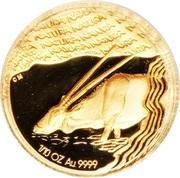 1/10 Ounce (Oryx gazelle) – revers
