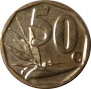50 Cents (Suid-Afrika - Afrika Borwa) -  revers