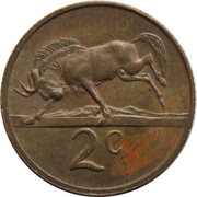 2 cents (Jacobus J. Fouché) -  revers