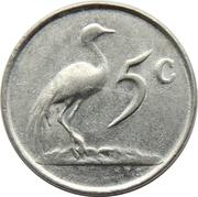 5 cents (Balthazar J. Vorster) -  revers