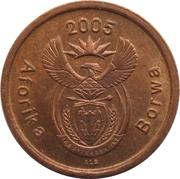 5 cents (en tswana - AFORIKA BORWA) -  avers