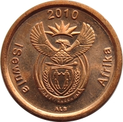 5 cents (en Ndebele - ISEWULA AFRIKA) -  avers