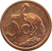 5 cents (en Ndebele - ISEWULA AFRIKA) -  revers
