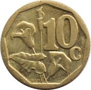 10 cents (en Venda - AFURIKA TSHIPEMBE) -  revers