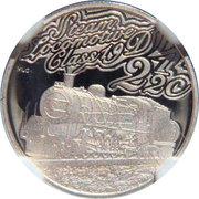 2 ½ Cents (Trains d'Afrique du Sud - Class 19D) – revers