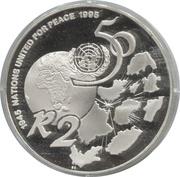 2 rand (50e anniversaire des Nations Unies) – revers