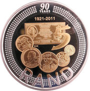 90th Anniversary of the South African Reserve Bank Crown -  revers