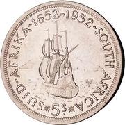 5 shillings - George VI (Anniversaire du Cap) – revers