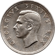 5 shillings - George VI (SUID-AFRIKA - SOUTH AFRICA) -  avers
