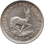 5 shillings - George VI (SUID-AFRIKA - SOUTH AFRICA) -  revers