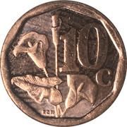10 cents (en tswana - Aforika Borwa) -  revers