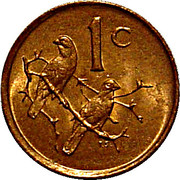 1 cent (Balthazar J. Vorster) -  revers