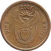 5 cents (en afrikaans - SUID AFRIKA) -  avers