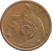 5 cents (en afrikaans - SUID AFRIKA) -  revers