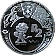 2 Rand (Coupe du monde de football Afrique du Sud 2010 - mascotte Zakumi) – revers
