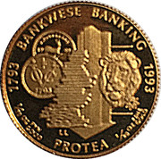 1/10 d'once d'or - 200 ans de banque en Afrique du Sud – revers