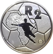 2 Rand (Coupe d'Afrique des Nations de football 1996) – revers