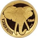 1/10 d'once d'or - Éléphant d'Afrique – avers