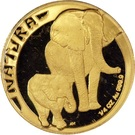 1/4 d'once d'or - Natura Éléphant – revers