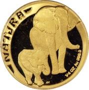 1/4 d'once d'or - Natura Éléphant – revers