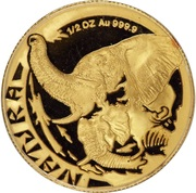 1/2 d'once d'or - Natura Éléphant – revers