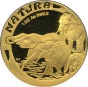 1 once d'or - Natura Éléphant – revers