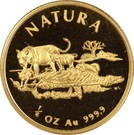 1/4 d'once d'or - Natura Lion – revers