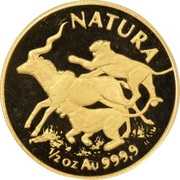1/2 d'once d'or - Natura Lion – revers