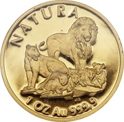 1 once d'or - Natura Lion – revers