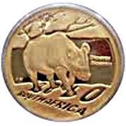1/10 d'once d'or - Rhinocéros noir – avers