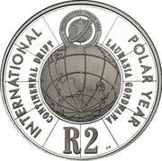2 Rand (Année polaire internationale) – revers