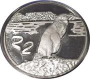 2 Rand (Manchot du Cap) – revers
