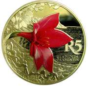 5 Rand (Gladiolus carmineus - colorisé) – revers