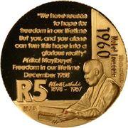 5 Rand (Albert John Luthuli) – revers