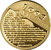 1/10 oz (R5 Noble Prize Winners) – revers
