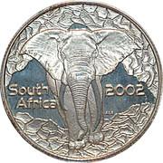 5 cents Éléphant, force de l'Afrique – avers