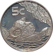 5 cents Éléphant, force de l'Afrique – revers