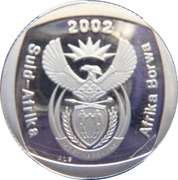 1 rand (en afrikaans et sepedi / sesotho - AFRIKA BORWA) -  avers