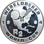 2 rand (Coupe du monde de football USA 1994) – revers