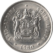 20 cents (SUID-AFRIKA - SOUTH AFRICA) -  avers