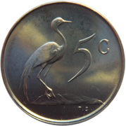 5 cents - Van Riebeeck (en anglais - SOUTH AFRICA) -  revers