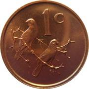 1 cent - Van Riebeeck  (en anglais - SOUTH AFRICA) -  revers