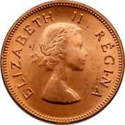 ½ penny - Elizabeth II (1ere effigie) – avers