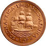 ½ penny - Elizabeth II (1ere effigie) -  revers