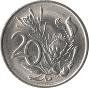 20 cents (SUID-AFRIKA - SOUTH AFRICA) -  revers