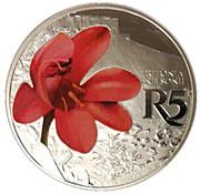 5 Rand (Orange Trotonia - colourized) – revers